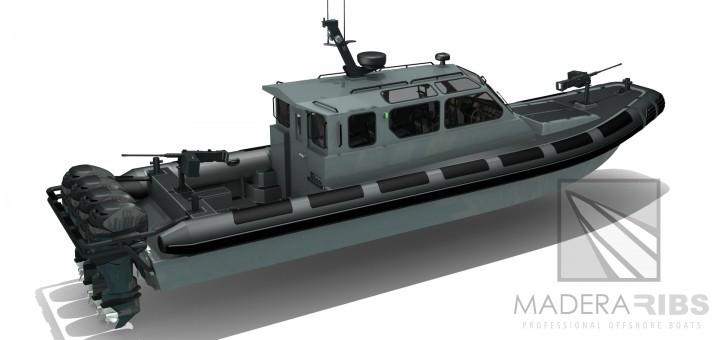 Lancha MRCD-1200 MADERA-RIBS