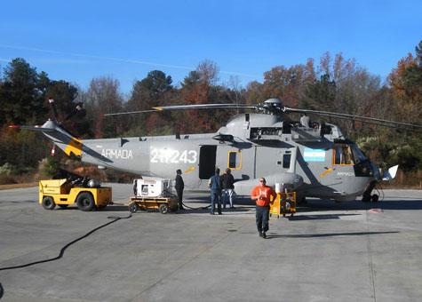 Chegou para a Aviacão Naval argentina mais um Sikorsky UH-3