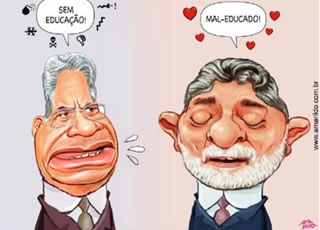 Charge Lula x FHC