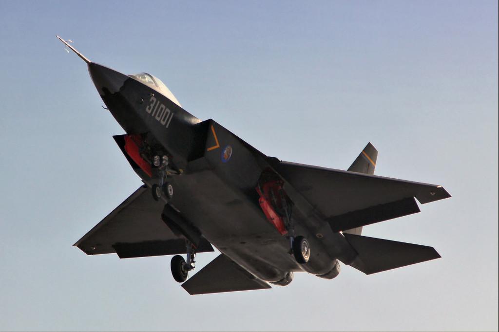 A melhor imagem do protótipo do caça J 31