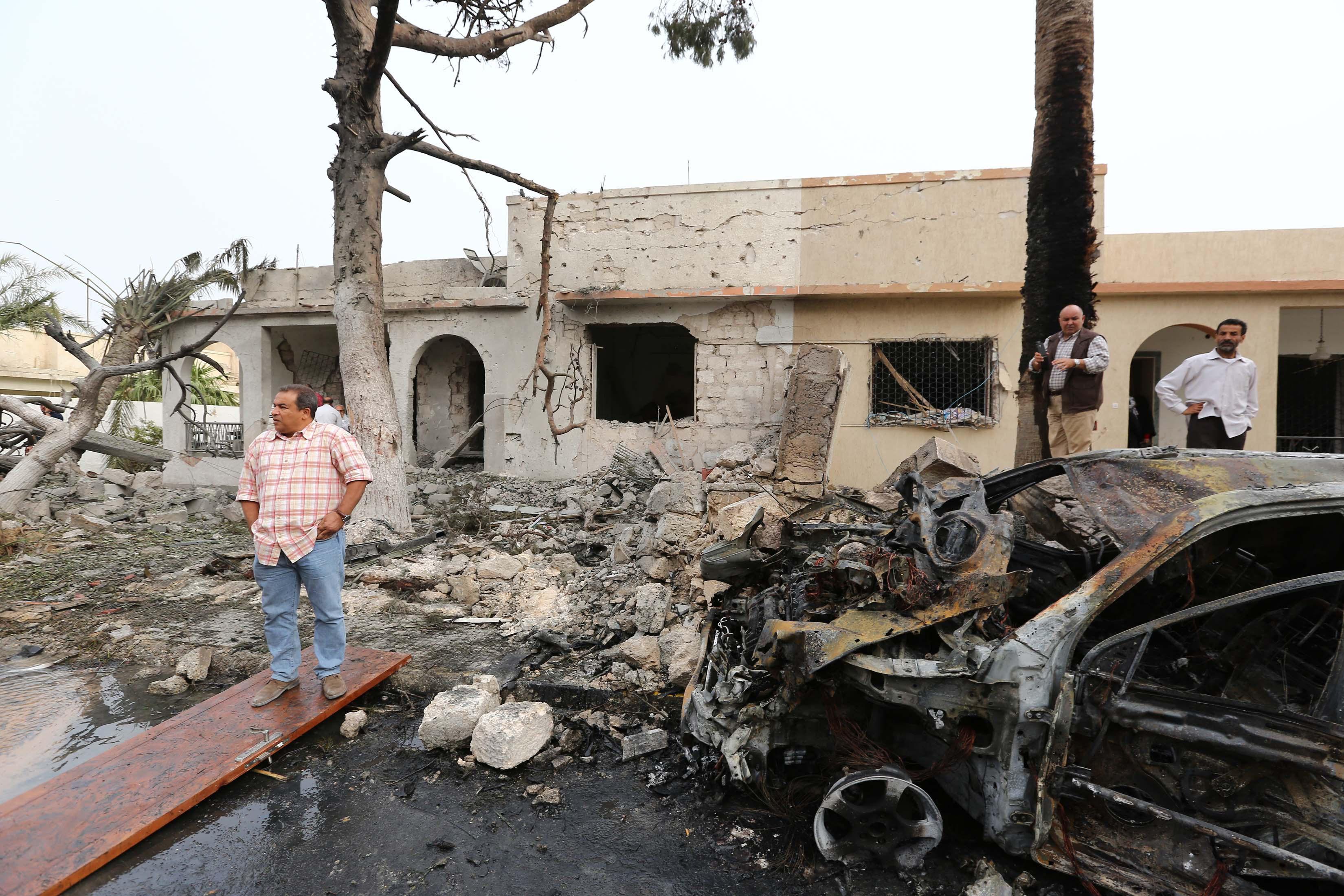 LIBYA-FRANCE-UNREST-EMBASSY