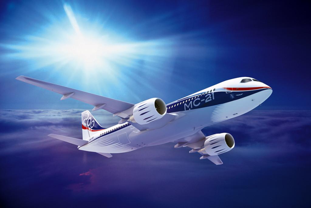 Avião de passageiros MS-21 reduz até 15% do custo operacional