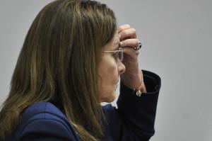 A presidenta da Petrobras, Maria das Graças Foster, participa de audiência pública na Comissão de Fiscalização Financeira da Câmara para falar sobre o plano de negócios da empresa