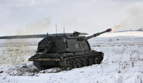 Артиллерийские учения на полигоне Чебаркуль