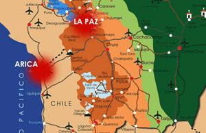IMBRÓGLIO CONSTITUCIONAL BOLIVIANO-BOLIVARIANO FAVORECE CHILE, AO NEGAR A BOLÍVIA, VIA TERRITÓRIO CHILENO,  UMA SAÍDA PARA O OCEANO PACÍFICO