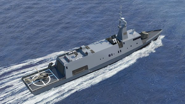 Israel shipyards apresenta as mini corvetas  SAAR 72