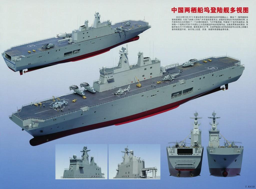 LHD do projeto Type 81 exibido no Abu Dhabi e Turquia
