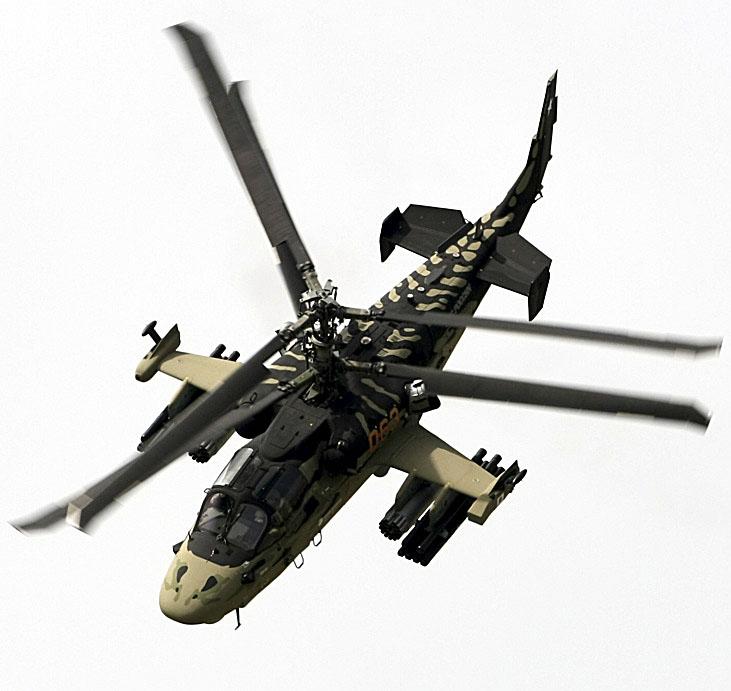 Kamov Ka-52 Alligator é uma das principais atrações no 50º Paris Airshow