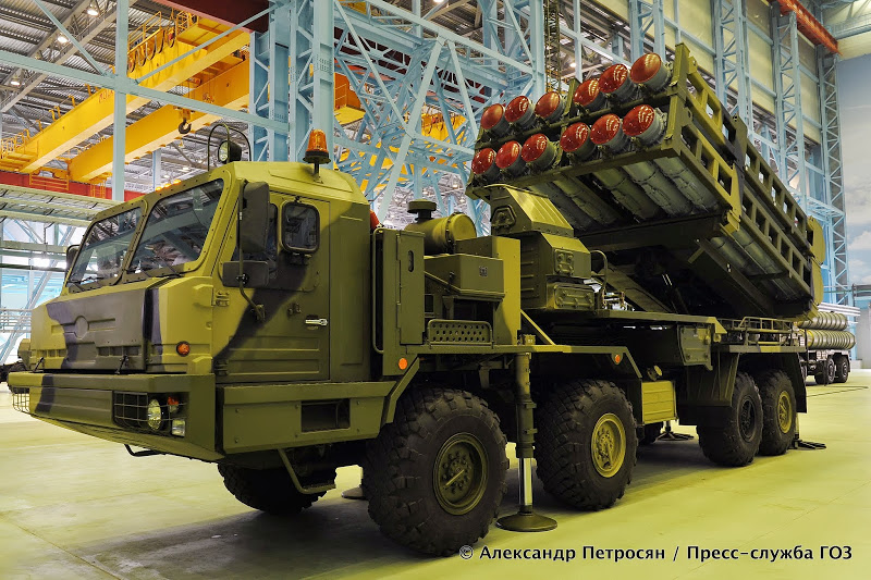 Nova bateria de mísseis antiaéreos S-350Е será mostrada ao público