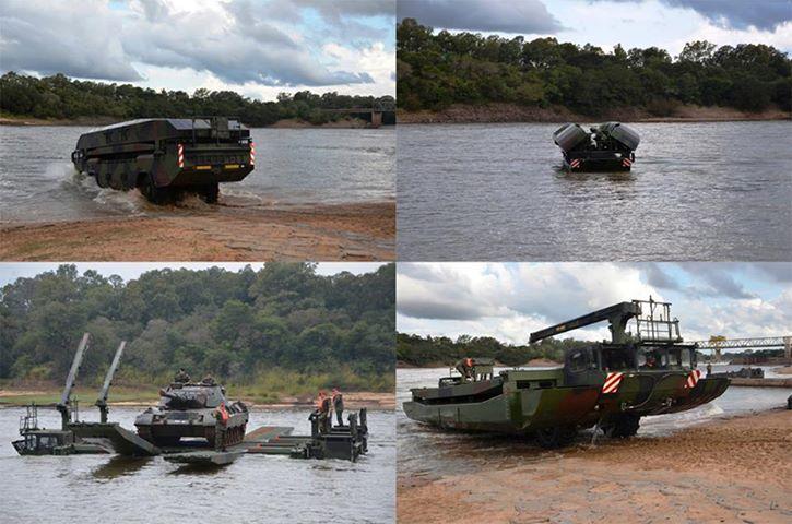Exército Brasileiro apresenta novo equipamento — Ponte Anfíbia Flutuante M3