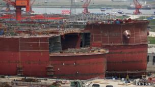 Estaleiro Rongsheng vem sofrendo com as intempéries da economia chinesa