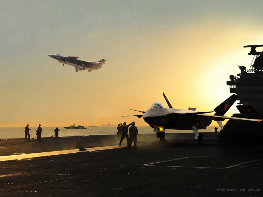 O J-20 embarcado pode no futuro substituir os atuais J-15 na função de caça de defesa da frota, este feito deve acontecer em meados da década de 30 deste século. até lá provavelmente ambos os caças serão empregados em conunto.