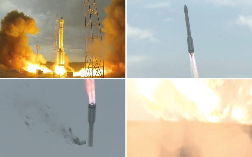 Foguete russo que levava satélites cai após decolagem
