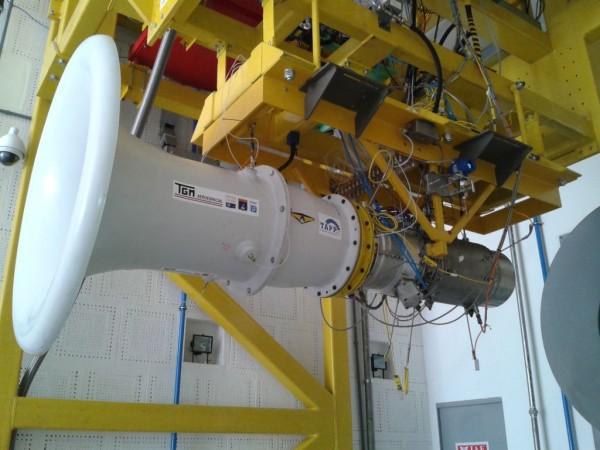 Instituto de Aeronáutica e Espaço realiza teste com turbina para Vant