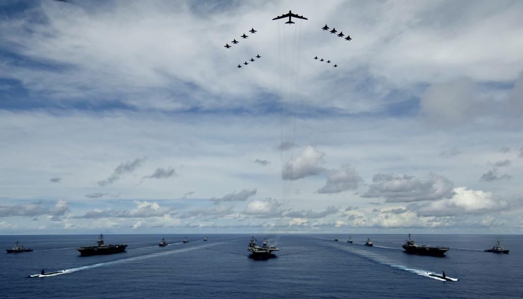 O poder  aeronaval dos EUA  é inquestionável, esta nação é a única do planeta a possuir esta capacidade em âmbito Global, pode atuar em qualquer canto do  Planeta com eficácia e superioridade aérea