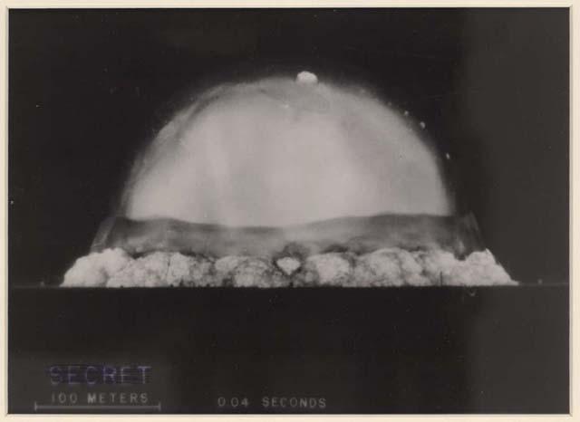 16 de julho de 1945 – Testada a primeira bomba atômica