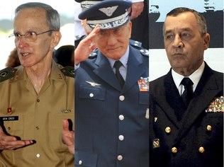 Agência Brasil Comandantes Enzo Peri (Exército), Juniti Saito (Aeronáutica) e Moura Neto (Marinha)