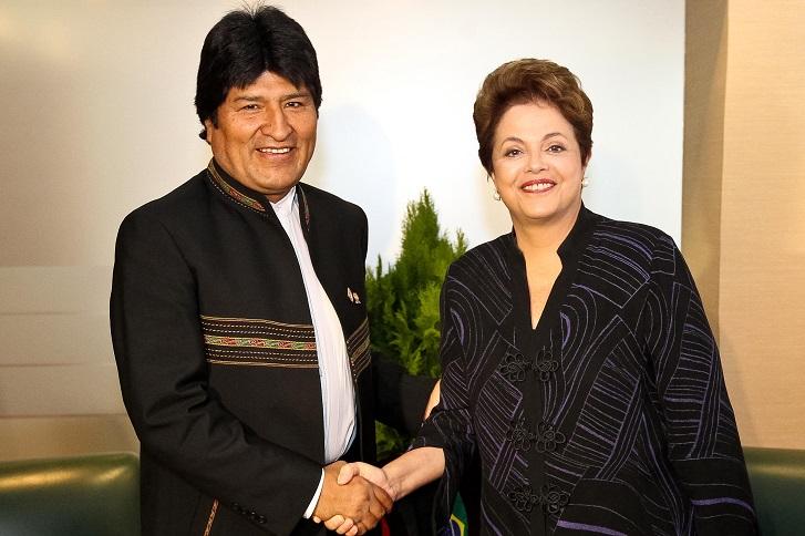 O BRASIL É MAIOR DO QUE A SOLIDARIEDADE DA PRESIDENTE DILMA ROUSSEFF A EVO MORALES