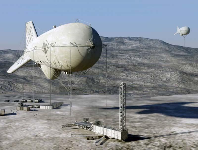 JLENS usado para detectar míssil de cruzeiro