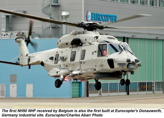 Bélgica recebe o primeiro NH90 NFH