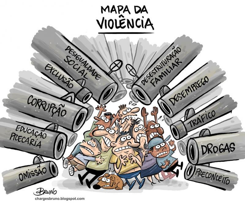 TAXA DE HOMICÍDIOS NO BRASIL SEGUE LÓGICA MATEMÁTICA
