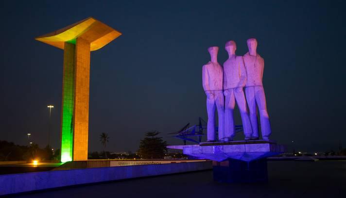Rendição da Guarda do  Monumento Nacional aos Mortos da Segunda Guerra Mundial