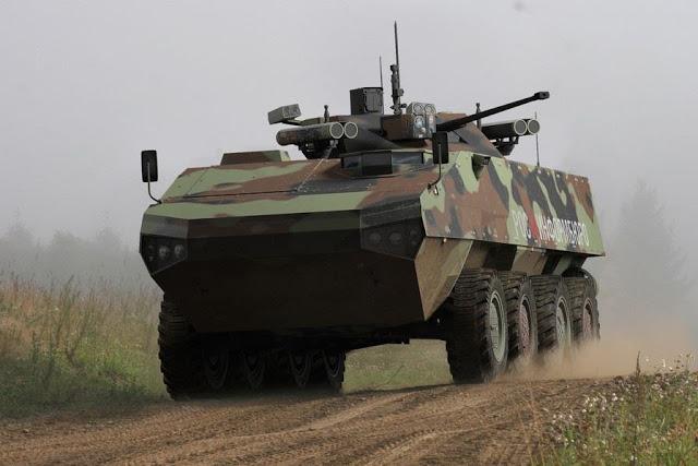 Primeiras imagens do veículo blindado de infantaria russo Boomerang