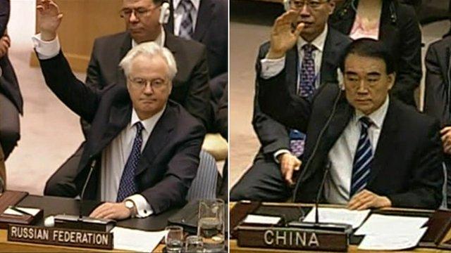 Representantes da Rússia e da China deixam reunião da ONU sobre Síria