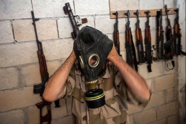 Gás neuroparalítico sarin foi usado por militantes da oposição Síria.