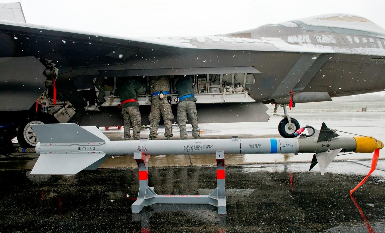 aim-9x sidewinder block II III IV V  AIM-120D AMRAAM  F-22A234