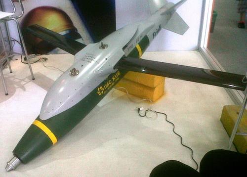 Bomba Indumil Xué con sistema de guía Friuli FPG-82