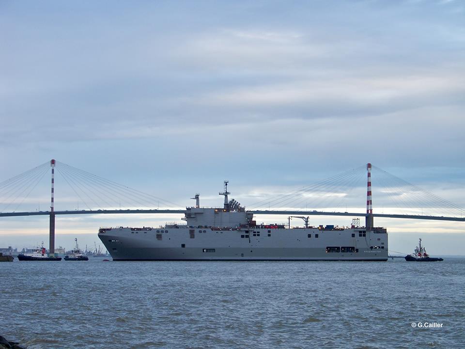 DCNS/STX  lançam ao Mar o LHD Vladivostok o primeiro navio multipropósito Russo