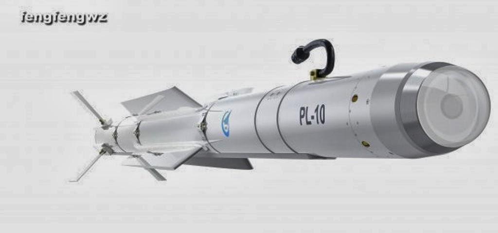 China Revela imagens do Míssil de WVR de 5ª geração PL-10