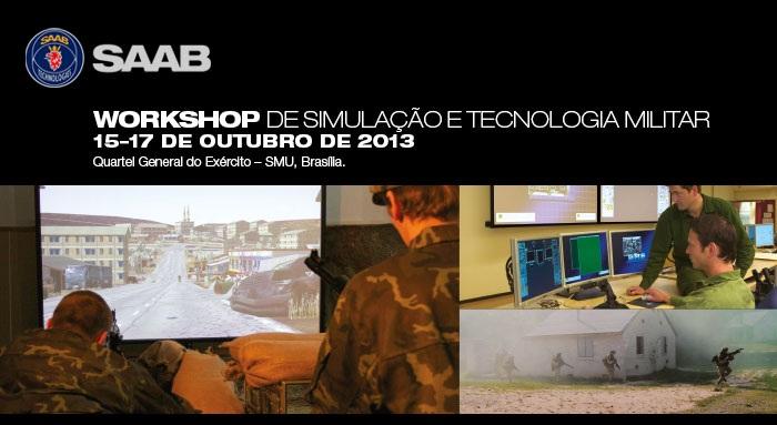 SAAB no Workshop de Simulação e Tecnologia Militar