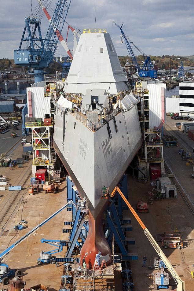 Novas imagens do USS Zumwalt