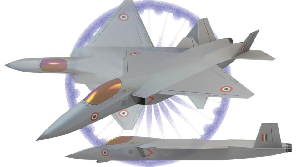 Advanced Medium Combat Aircraft (AMCA) Medium Combat Aircraft (MCA) single-seat, twin-engine fifth-generation stealth  (3)