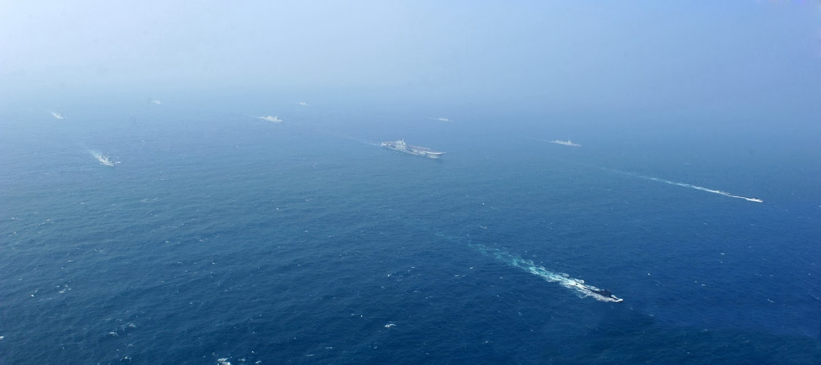 Chinese Carrier Battle Group (CVBG) FormationLiaoning escort group 4 incl. subs Type 052D Guided Missile Destroyer, Type 052C , Peoples Liberation Army Navy 5 Type 052C Type 052D destroyers (8)