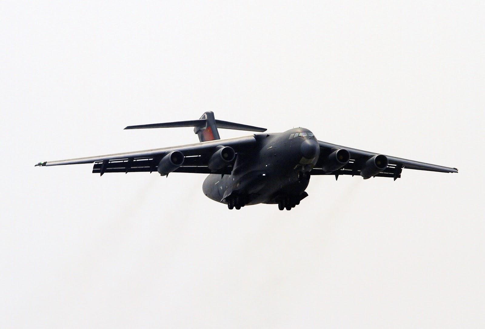 Confirmado: China testa o motor que equipará o cargueiro Y-20