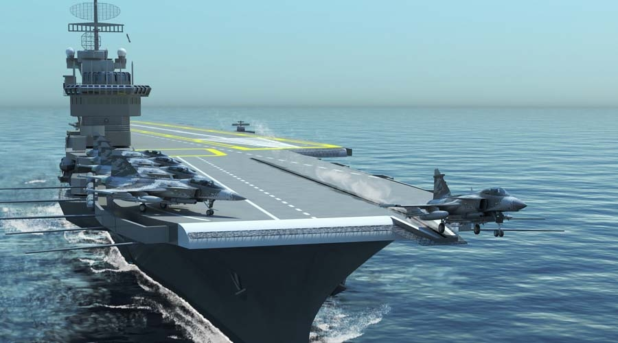 O Gripen NG poderá ser adaptado para operar em porta-aviões