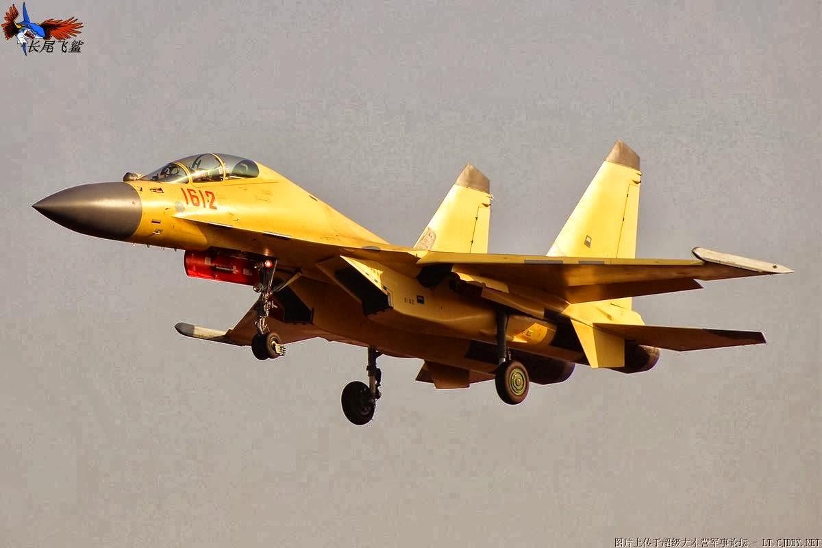 Primeiro Caça J 16 de série executa testes de voo