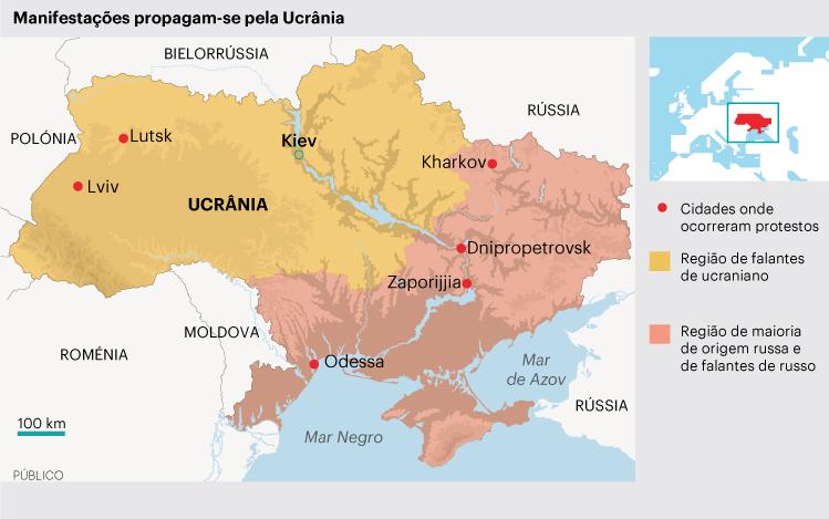 A Origem dos conflitos e da divisão da Ucrânia