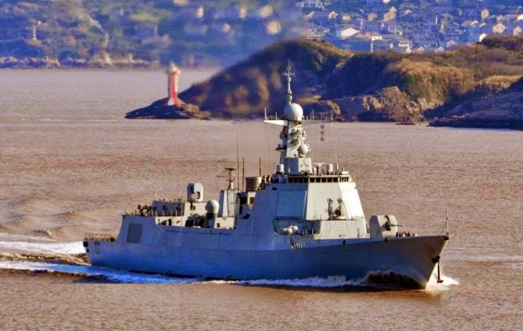 Images of the day Chinese Second Commission Type 052D)-class guided missile destroyers DDG172, DDG173 Changsha undergo sea trial near Zhoushan (3)