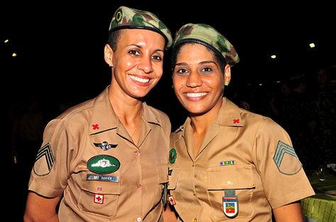 As duas primeiras Mulheres formadas no CIGS