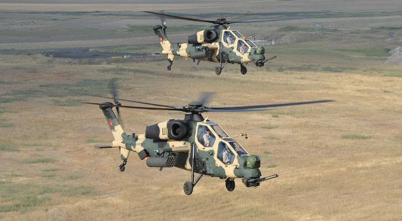 Exército turco apresenta a primeira unidade de helicópteros de ataque e reconhecimento