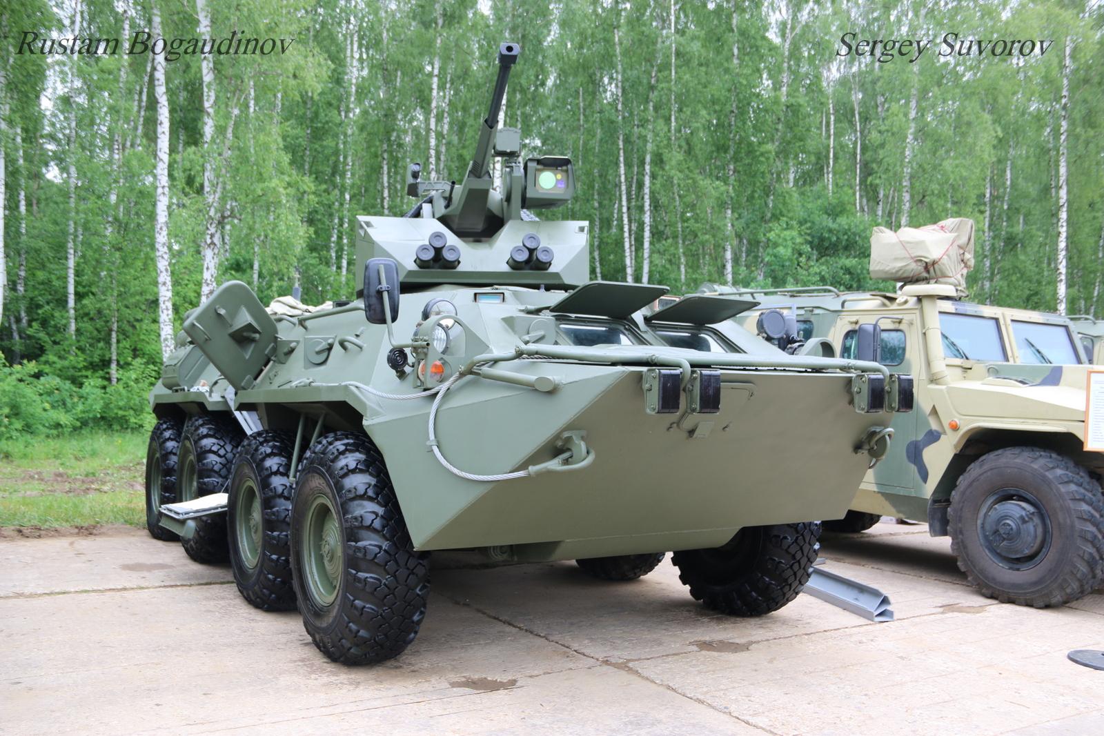 Novas torres automáticas para os veículos BTR-82А1