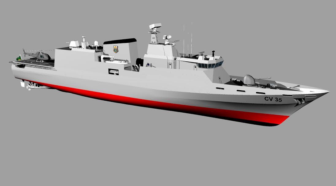 Radar das corvetas CV03 da MB começa a tomar forma