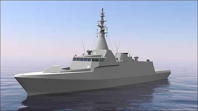 Marinha Real da Malásia demonstra o seu conceito de navio d eocmbate de litoral baseado nas corvetas DCNs GOWIND
