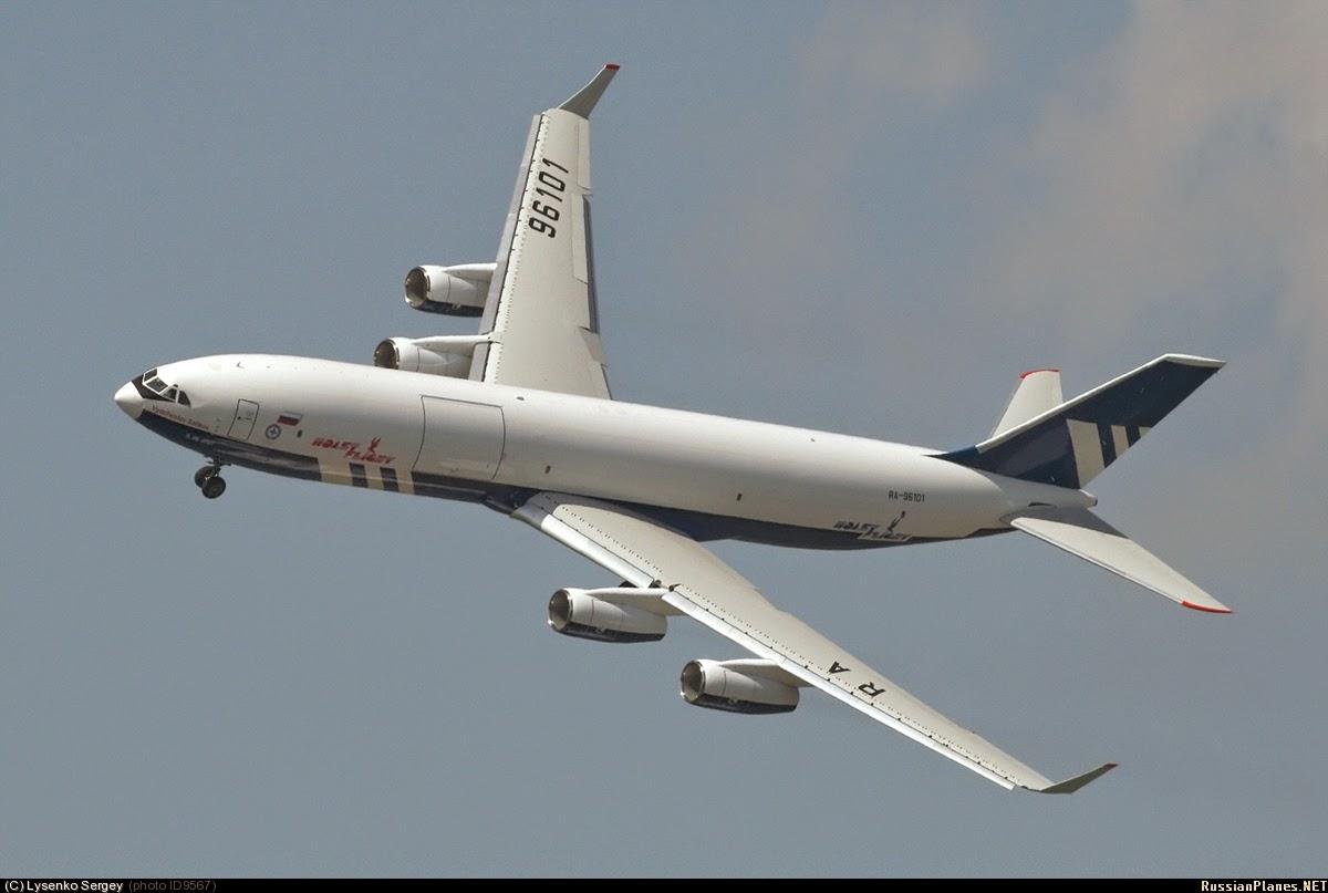 Rússia e China desenvolverão aeronave baseada na plataforma Il-96 400T