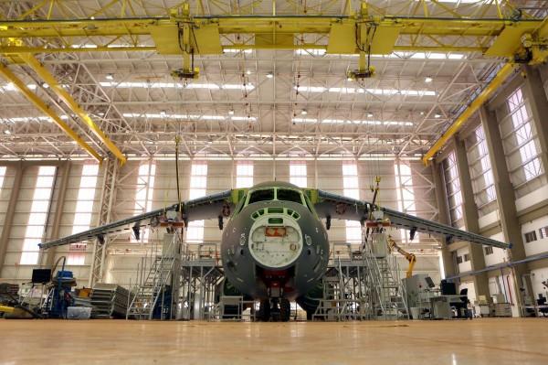 Foto do estágio atual do KC-390