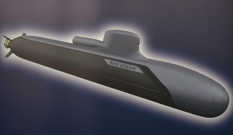 DCNs Revela novo projeto de submarino Oceânico